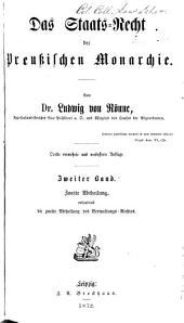 Das Staats-Recht der Preussischen Monarchie: Band 2,Ausgabe 2