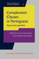 Complement Clauses in Portuguese PDF