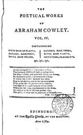 The Poetical Works of Abraham Cowley ...