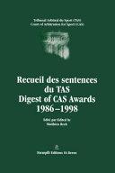 Digest of CAS Awards I, 1986-1998