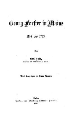 Georg Forster in Mainz PDF
