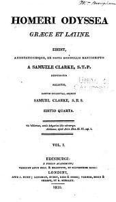 Homeri Odyssea: Graece et Latine, Volume 1
