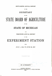 Annual Report of the Agricultural Experiment Station, Michigan State University: Volume 30