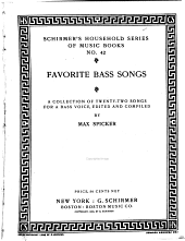 Favorite Bass Songs: A Collection of Twenty-two Songs for a Bass Voice