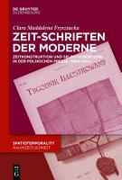 Zeit Schriften der Moderne PDF