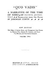 """Quo Vadis."": A Narrative of the Time of Nero, Volume 2"