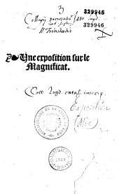 Vne exposition sur le Magnificat