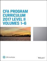 CFA Program Curriculum 2017 Level II  Volumes 1   6 PDF