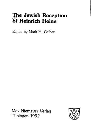 The Jewish Reception of Heinrich Heine