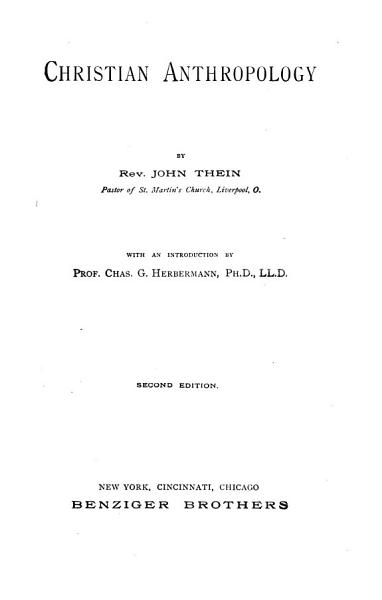 Christian Anthropology PDF