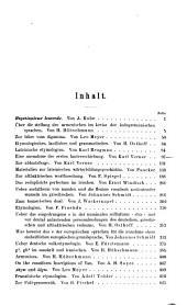Zeitschrift für vergleichende Sprachforschung auf dem Gebiete der indogermanischen Sprachen: Band 23