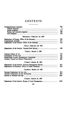 Department of the Interior and Related Agencies Appropriations for Fiscal Year 1988: Advisory council on historic preservation