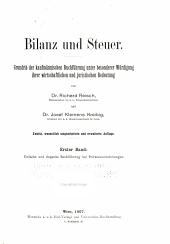 Bilanz und Steuer: Grundriss der kaufmännischen Buchführung unter besonderer Würdigung ihrer wirtschaftlichen und juristischen Bedeutung, Band 1