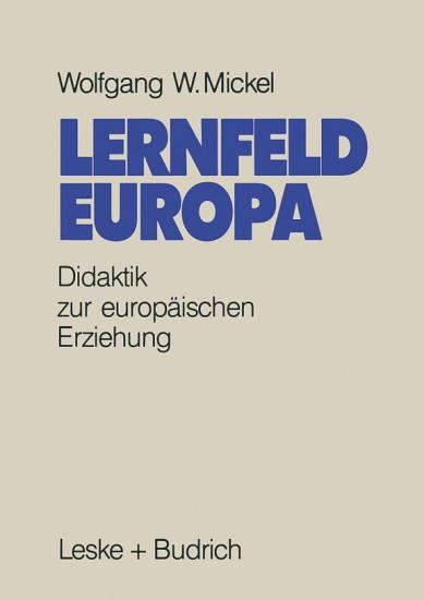 Lernfeld Europa PDF