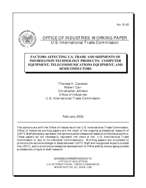 Factors affecting U S  trade and shipments of information technology products computer equipment  telecommunications equipment  and semiconductors