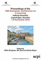 ECEL 2019 18th European Conference on e Learning PDF