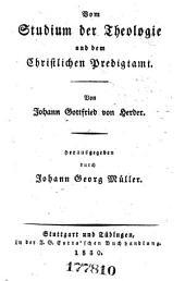 Johann Gottfried von Herder's sämmtliche Werke ...: -3. Präludien zur Philosophie der Geschichte der Menschheit