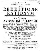 Dissertatio iuridica de redditione rationum