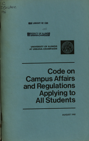 Code on Campus Affairs and Regulations Applying to All Students PDF