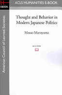 Thought and Behaviour in Modern Japanese Politics PDF