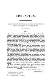 Education: Correspondence Between Mr. Simpson of Edinburgh, and Mr. Colquhoun of Killermont, M.P.
