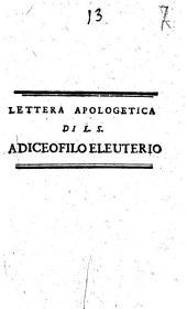 Lettera apologetica di L. S. a Diceofilo Eleuterio