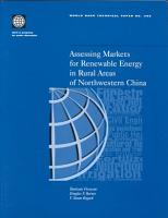 Assessing Markets for Renewable Energy in Rural Areas of Northwestern China PDF