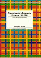Transformaciones agrarias en Cantabria  1860 1930 PDF