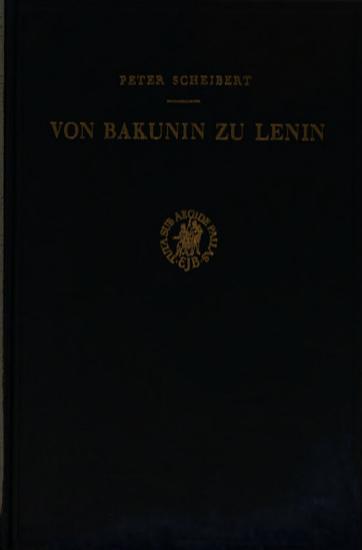 Von Bakunin Zu Lenin PDF