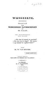 De Socratische school of wijsgeerte voor de negentiende eeuw: Wijsgeerige navorschingen in de talen