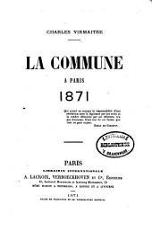 La Commune à Paris, 1871
