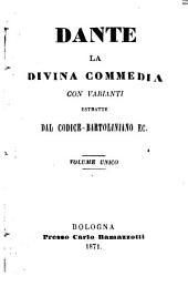 La divina commedia, con varianti