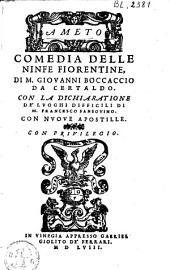 Ameto: comedia della ninfe Fiorentine