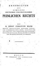 Grundsaetze des gemeinen deutschen und preussischen peinlichen Rechts