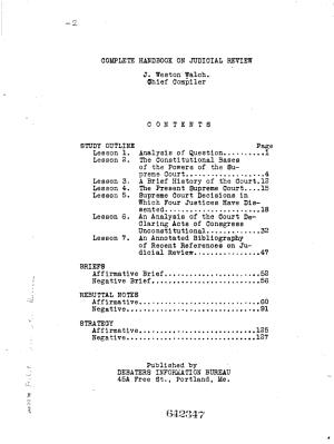 Complete Handbook on Judicial Review