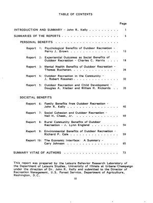 Social Benefits of Outdoor Recreation PDF