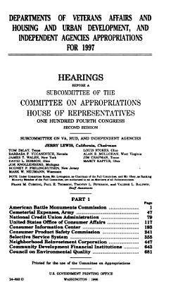 Departments of Veterans Affairs and Housing and Urban Development  and Independent Agencies Appropriations for 1997  American Battle Monuments Commission PDF