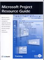 Microsoft Project Resource Guide