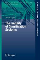 The Liability of Classification Societies PDF