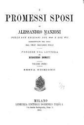 I promessi sposi di Alessandro Manzoni nelle due edizioni del 1840 e del 1825 raffrontate tra loro dal prof. Riccardo Folli: Volume 1