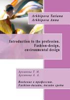 Introduction to the profession  Fashion design  environmental design PDF