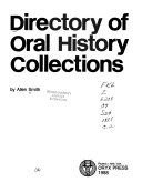 Directory of Oral History Collections PDF