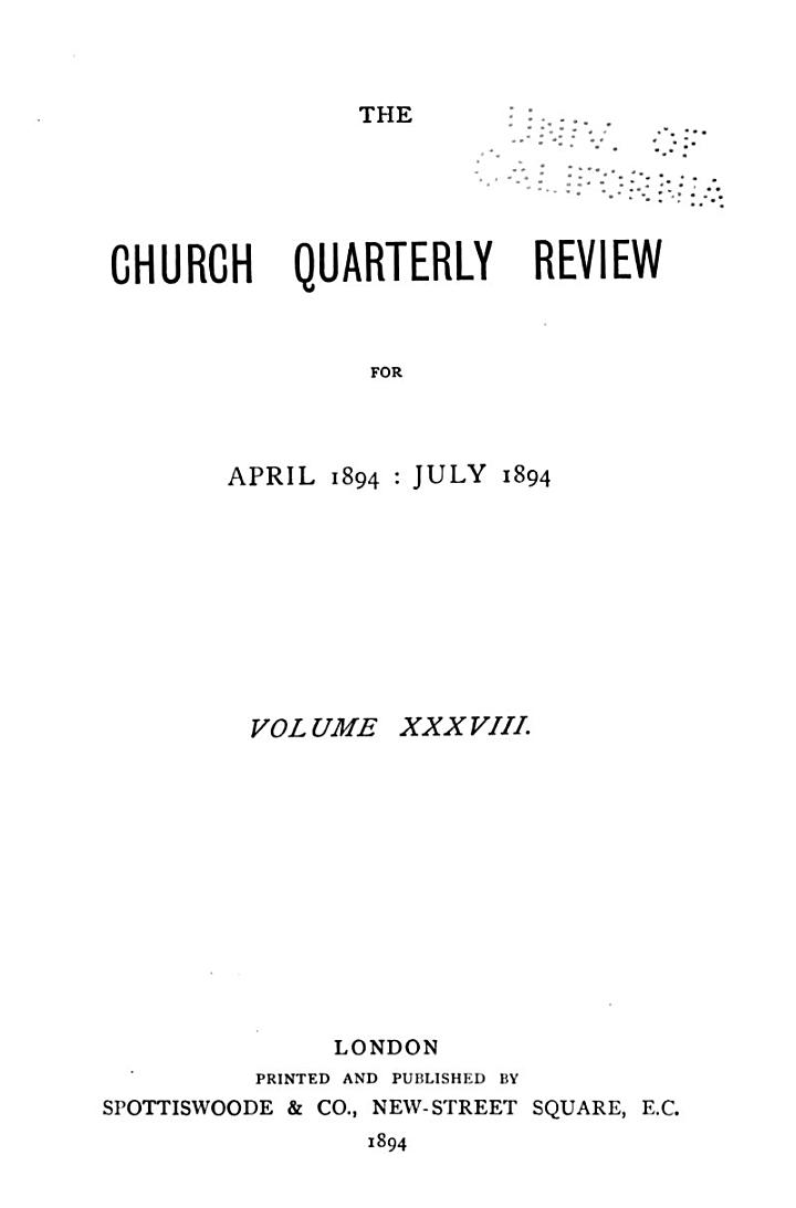 Church Quarterly Review