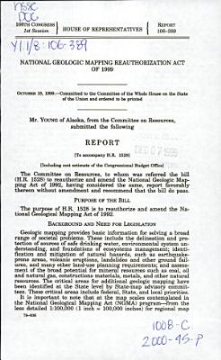 An Act To Reauthorize And Amend The National Geologic Mapping Act Of 1992 And For Other Purposes