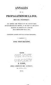 Annales de la propagation de la foi: Volume22