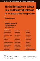 The Modernization of Labour Law and Industrial Relations in a Comparative Perspective PDF