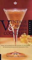 Vintage Spirits Forgotten Cocktails PDF