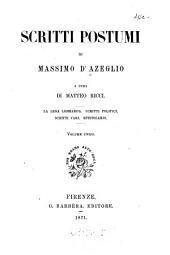 Scritti postumi di Massimo d'Azeglio
