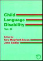 Child Language Disability