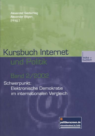 Kursbuch Internet und Politik PDF